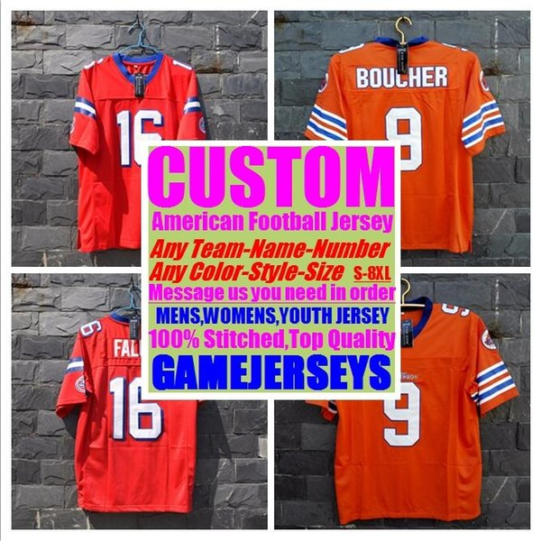 e103ec066bb1 Custom college american football jerseys mens womens youth kids soccer  rugby stitched authentic jersey 4xl 5xl