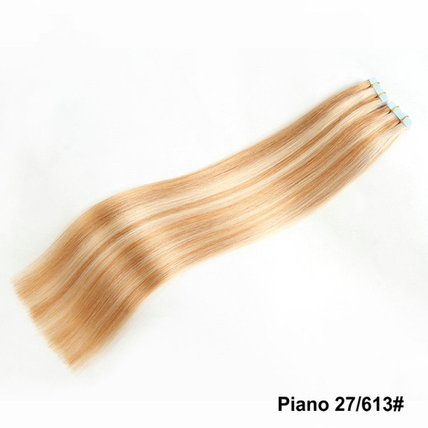 22inch Tape In Human Hair Extensions Skin Weft Hair 150g 60pieces Brazilian Hair Double Sides Adhesive Cheap Price Free Shipping