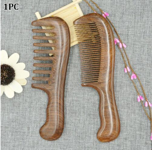 Parfum En Bois Santé Brosse Démêler Peigne Large Dent Anti Statique Naturel Bois De Santal Maison Cheveux Outils Salon Femmes Longue Taille