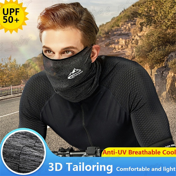 top popular New Ice Silk Sunscreen Mask Summer Unisex Cycling Dust Proof Masks Multifunctional Outdoor Sports Windproof Head Scarf Sweat Towel H095-1 2020