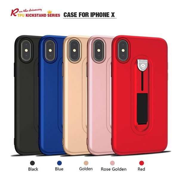 Top Quality Cell Phone Accessories,Kickstand TPU Case For iPhone 8 X Mobile Phone Shell,Soft Cell Phone Case WholesaleBorder type