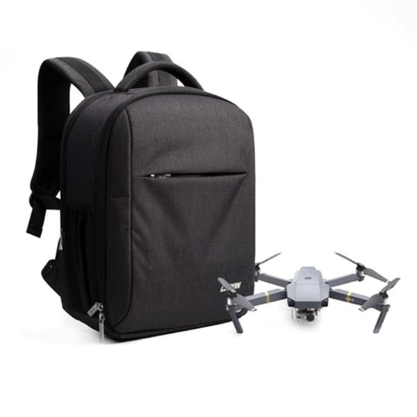 Drone Laptop Large Capacity Travel Backpack With USB Charging Black Zipper Hole
