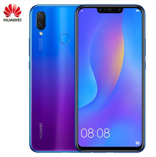 Wholesale Huawei nova 3i nova3i Mobile Phone 4G/6G Ram 64G/128G ROM 6.3 inch Kirin710 Octa Core Android 8.1 Glass Phone Body Smartphone