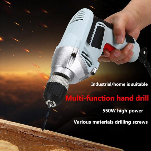 Multi-fonctions Drill Tournevis positif et négatif de refroidissement d'entraînement Réglage Drill rapide tournevis électrique 550W UE