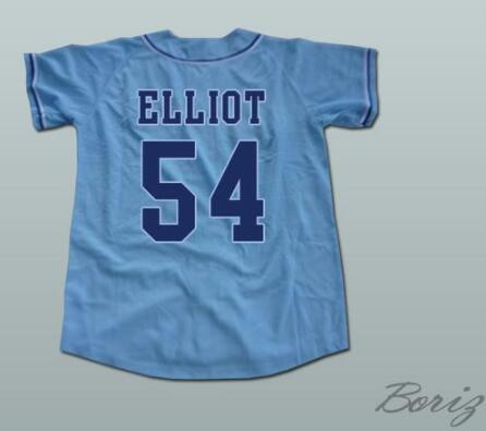 Minanser Chunichi Dragons Jack Elliot Mr. Baseball Movie Jerseys 54 Mens All Stitched Jersey White Blue Size S-3XL