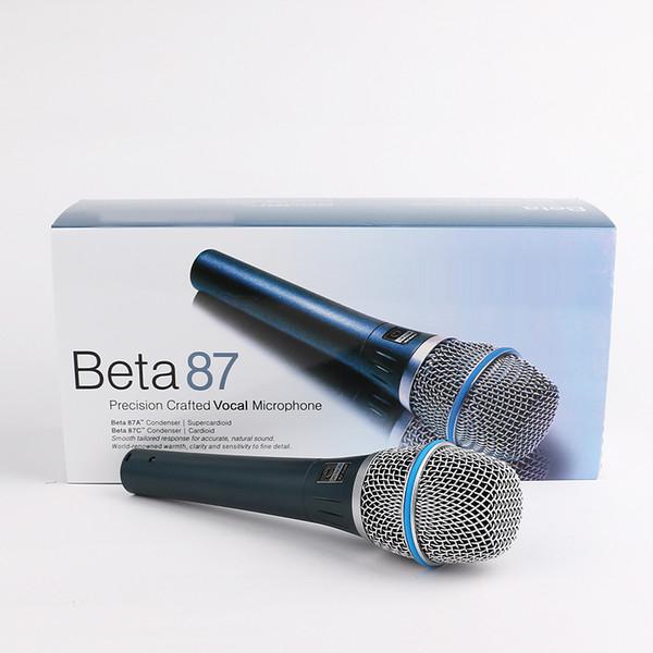 Beta87 Microfono Professional Wired Handheld Microphones Vocal Dynamic Karaoke Microphone For Beta 87C BETA87A BETA Mic DHL