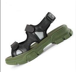 Diseñador de moda remache sandalias deportivas lujo marca de diamante sandalias casuales de hombres y mujeres moda cuero al aire libre playa zapatillas 03