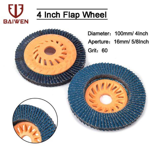 best selling 5''x7 8'' 2 5 10Pcs Flap Wheel Zirconia Alumina Sanding Discs Grit60 Grinding Wheels Blades For Angle Grinder
