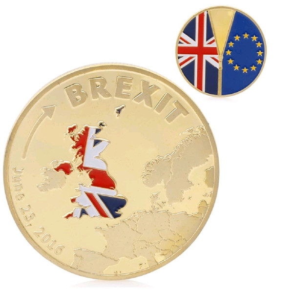 GLSY Hot Selling New Arrival Commemorative Coins Brexit Commemorative Coin Plated Gold Slivery Coin Collection Free Shipping By DHL