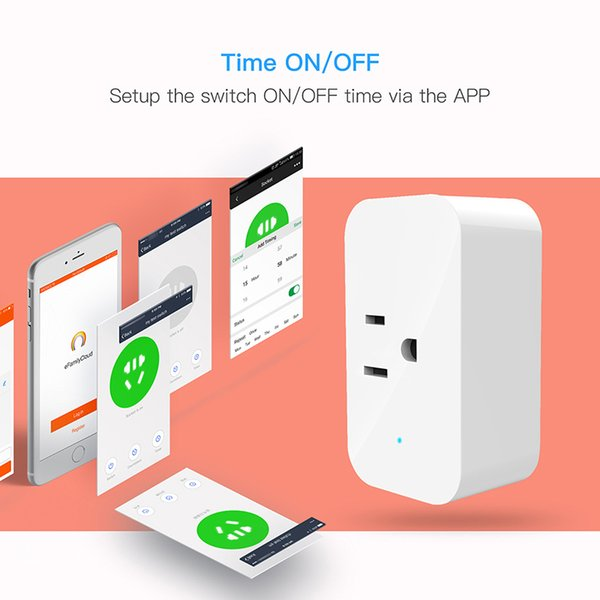 Smart Wifi Steckdosen Funkschalter Rund US Stecker APP Fernbedienung Steckdose Zeitschalter für Smartphones Android IOS Smart Power
