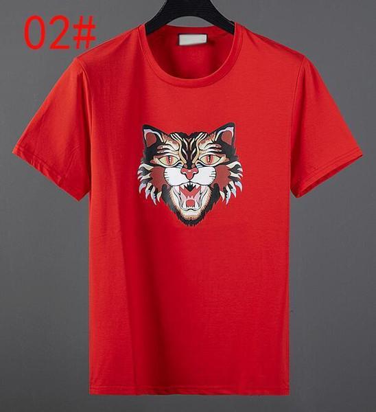 2019 Mode de haute qualité Designe court T -Shirt style européen Men '; S ronde Hococal Neck T -Shirt 100% coton à -Sleeved hommes