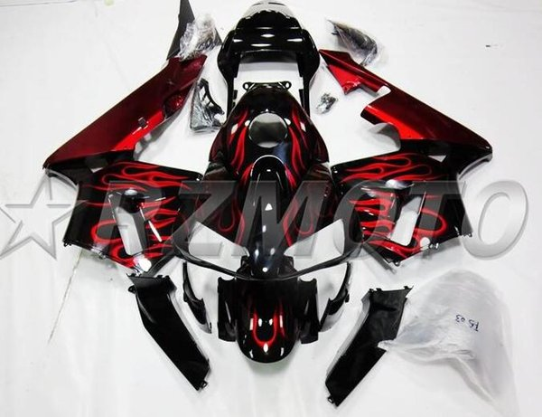 New Injection Mold Motorcycle ABS Full Fairings kit Fit for HONDA CBR600RR F5 2003 2004 03 04 600RR CBR600 +tank cover Custom Flame red