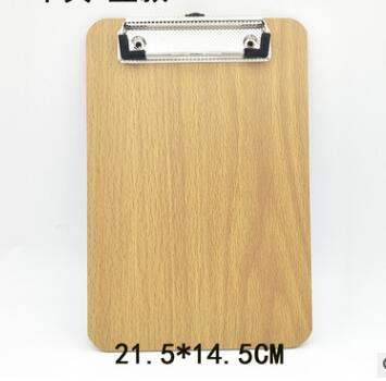 Wooden A5 Clipboards Stationery Store Clip Wood Folder Board Desk File Drawing Writing Pad School Office Accessory Tool Item Kit