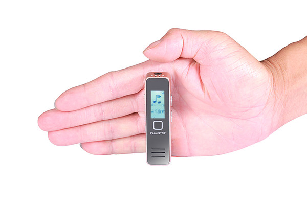 1.2 inç ekran mini MP 3 Oyuncu taşınabilir dijital Ses ses kaydedici makyaj aynası kompakt kayıt kalem okul öğrenme tekrarlayıcı