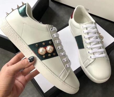 Top Quality Big Size US5-US13 White Black Shoes Designer Leather Ace Shoes Mans Womens Plus Size Luxury Casual Shoes with Box Dust Bag