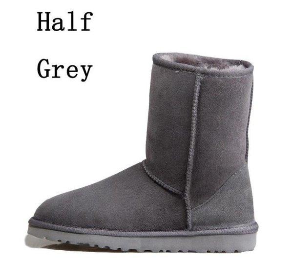 5 Grey half boots
