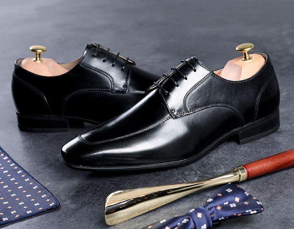 Schuh Leder Schwarz Kleid Schuhe Großhandel Von Männer Freizeitschuh Spitzen Schuhe Flache Herren 44 EU39 Business Oxfords 55 Luxus Zsq756178111 JlK13uTFc