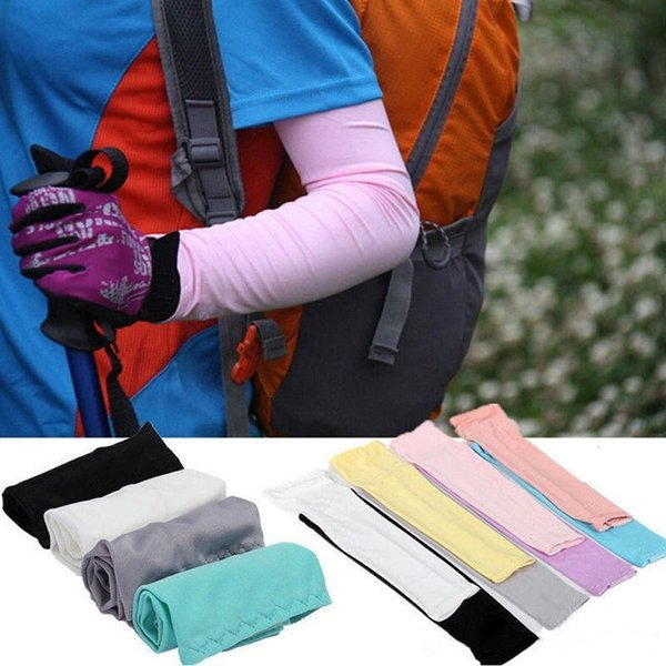 2pcs/pair Hicool Cooling Sleeves Unisex Sports Sun Block Anti UV Protection Sleeves Driving Arm Sleeve Cooling Sleeve Covers Free