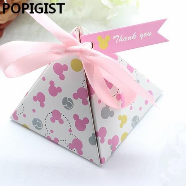 Cartoni animati a pois creativi Baby Shower Scatole di caramelle Bambini Baby Girl Bomboniere per feste di compleanno Forniture Scatole regalo Bomboniere