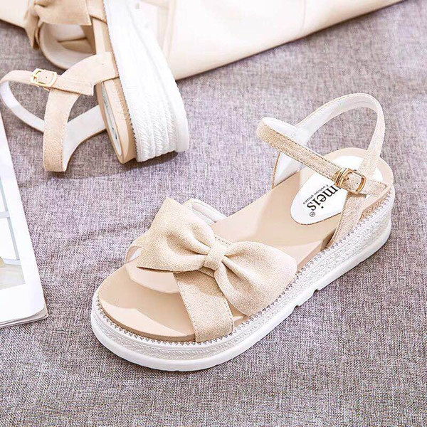 top popular Hot sale-Red couple magic paste retro couples slippers wearing summer white students to school wooden Baotou women beach shoes 2021