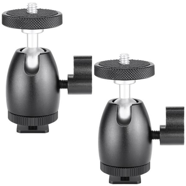 2 Adet Neewer 1 HTC Vive VR / Baz İstasyonu / LED Halka Işık / 4-inç Vida Tripod Mini Ball Head Hot Shoe Adaptörü Kamera Beşik