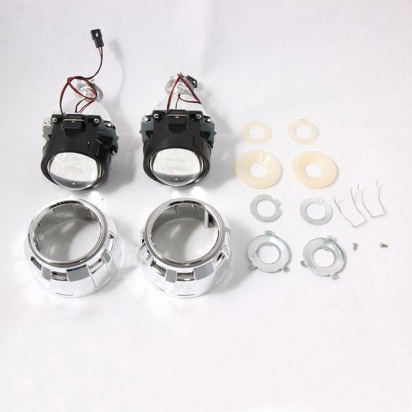 2.5 İnç Evrensel Bi H4 H7 Motosiklet Araba Headlight için HID Projektör Mercek H1 Xenon LED Ampul ksenon