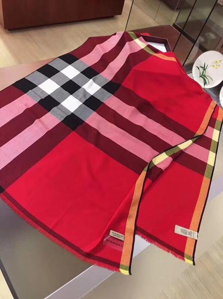 bufandas de cachemira bufanda del diseño clásico de lujo de los hombres de la cachemira de la tela escocesa de las mujeresBurberrypatrón de diamantes de cachemira bufandas 03a6 #