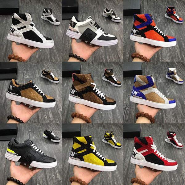 Philipp Plein Leader de la tendance de la mode stock x tendances chaussures de créateurs sauvages expédition supérieure matériau original chaud forage forage électrique baskets