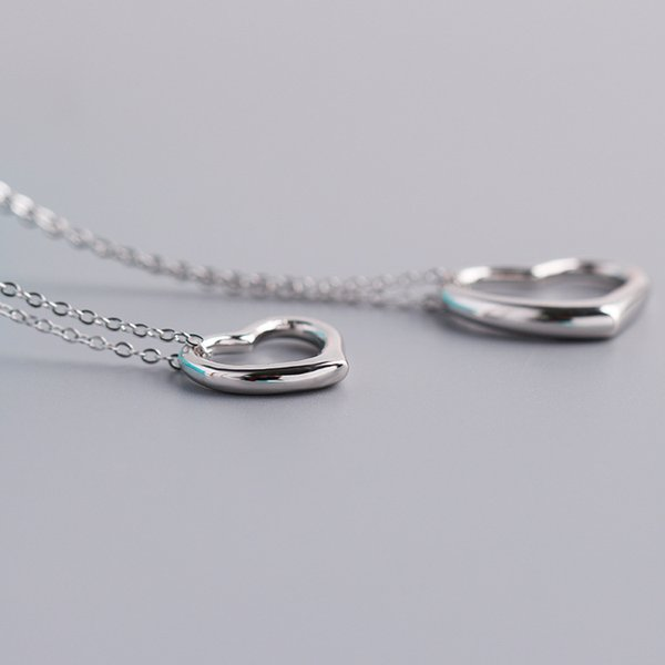 Women 925 Sterling Silver Love Necklace Designer Jewelry Luxury Woman Hollow Heart Pendant Chain Wedding Engagement Jewelry