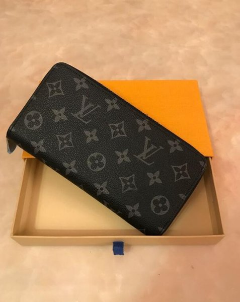 new arrival 98ee5 cda1a Zipper Wallet Classic Women Design Zippy Wallets Genuine Leather Single  Wallet Unisex Clutch Card Holder Vintage Purse 60017 N60015 With Box Purse  ...