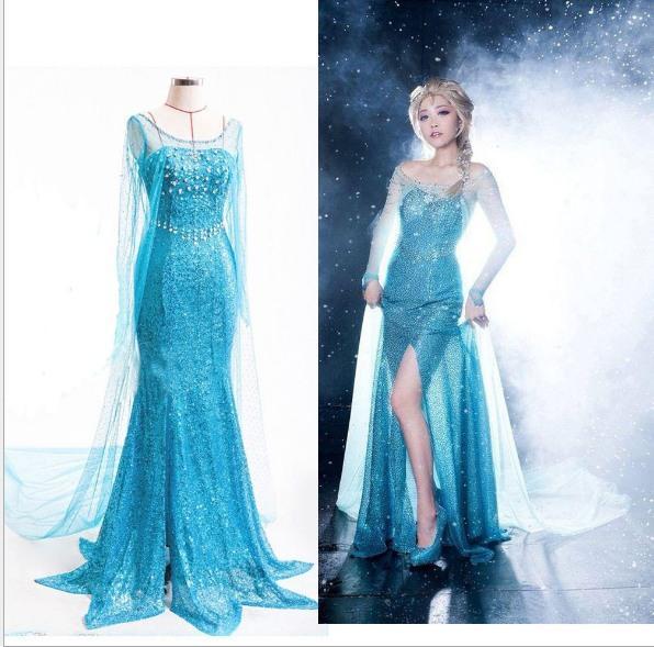 Nefis Dondurulmuş Elbise Kız Çocuklar için Cadılar Bayramı Kostümleri Kar Kraliçe Cosplay Prenses Parti Cadılar Bayramı Cosplay Aisha Prenses Elbise