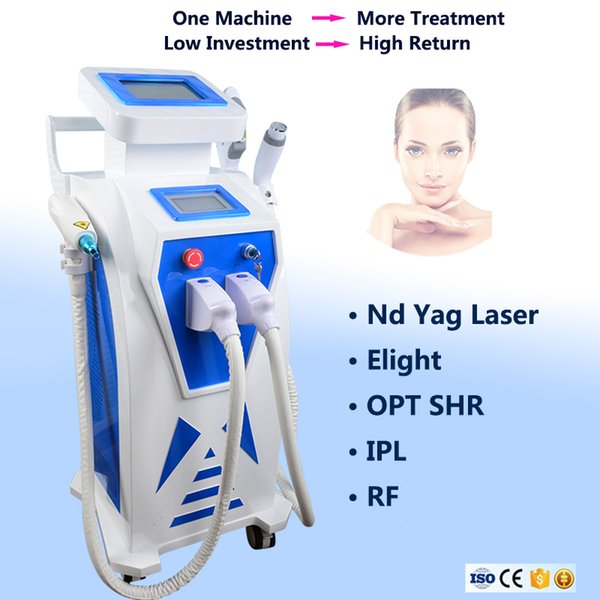 Newest ! 5 in 1 Multifunction OPT SHR E-light RF Skin Rejuvenation Laser Machine Painfree Hair removal System IPL Elight Skin Care Beauty