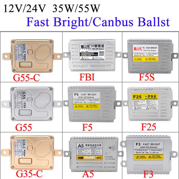 AC 35W 55W F5 Fast Яркое HID Балласт 12V 24V балласт для 35W 55W фара HID лампы Kit F3 F5 F25 Fast Start Canbus
