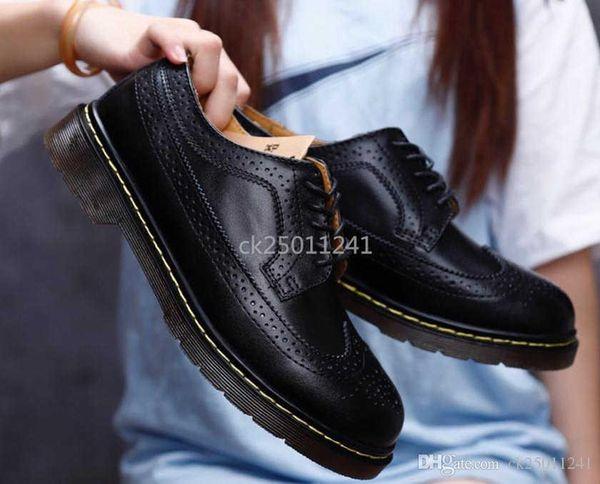 2019 del progettista di marca scarpe casual da uomo e basso-top in pizzo-up stivali Martin delle donne Brock scolpiti casuali scarpe dimensioni 35-44 CK03