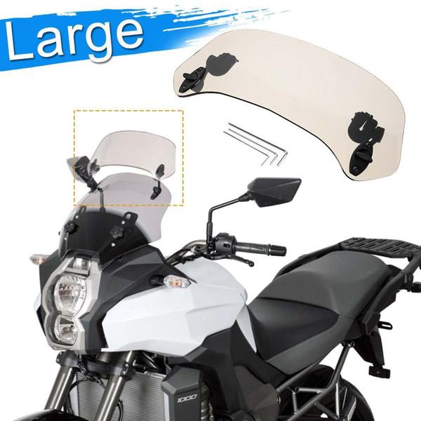 36,5 x 28 centimetri universale acrilico grande parabrezza del flusso d'aria Brown regolabili per motociclo Parabrezza Extension frangivento
