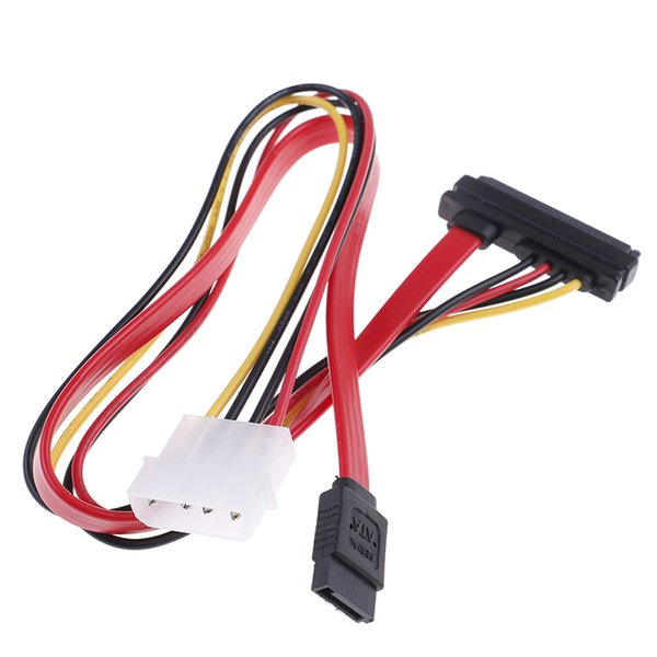 40cm SATA Combo 15 Pin Power and 7 pin Data Cable 4 pin Molex to Serial ATA Lead