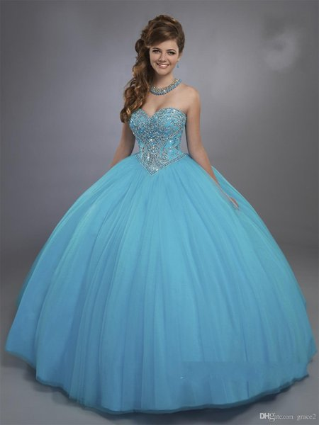 Blue Designer Quinceanera Dresses with Sheer Beaded Bolero Sparkly Sleeveless Sweet 15 16 Ball Gown Dresses Custom Made