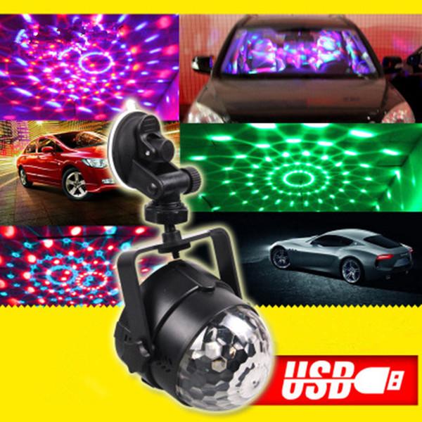 Dreauto musica dell'automobile di controllo del suono RGB decorazione LED Atmosfera dj luci laser del partito del randello della discoteca colorata Effetto lampada auto