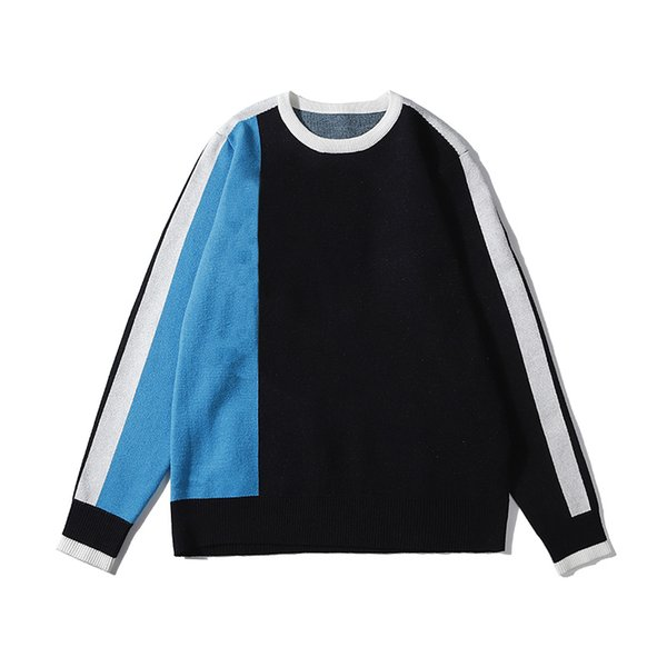 High Fashion Brand Mens Womens Luxury Pullover Sweaters Designer Contrast Color Autumn Spring Crew Neck Sweater Top Quality B100270V