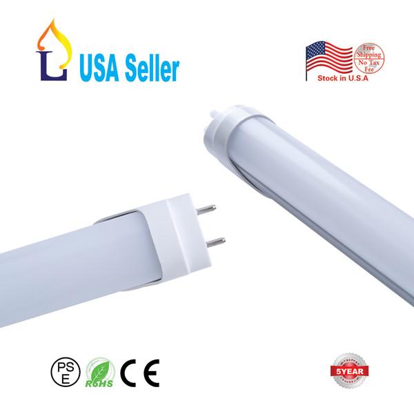 Tubo de luz LED T8 con 90 minutos de Emergen de la batería de 4 pies de 18W, G13 funciona sin un lastre o arrancador! White6000-6500K 100 Paquete mucho