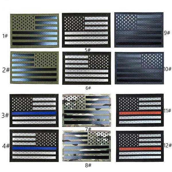 Toppe tattiche 19VP-16 Baotu 2x3,5 RI con stecca USA FLAG Riflettente esercito leggero Badge Toppe morali per borsello
