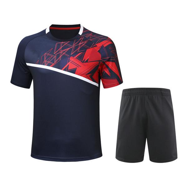 best selling 2020 new badminton suit short sleeve men's and women's shirt + shorts sportswear ping pong suit tennis suit sportswear