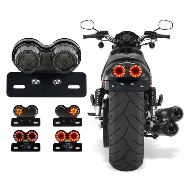 40-светодиодный 40W мотоцикл задний фонарь встроенный ходовой огонь BrakeTurn сигнальная лампа с кронштейном номерного знака мотоцикла