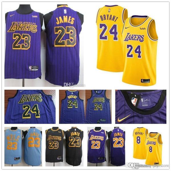 2019 NEW 23 James la lakers Jersey LBJ Yellow Purple lonzo ball Los Angeles  LeBron Black cae6e0a8e0fc