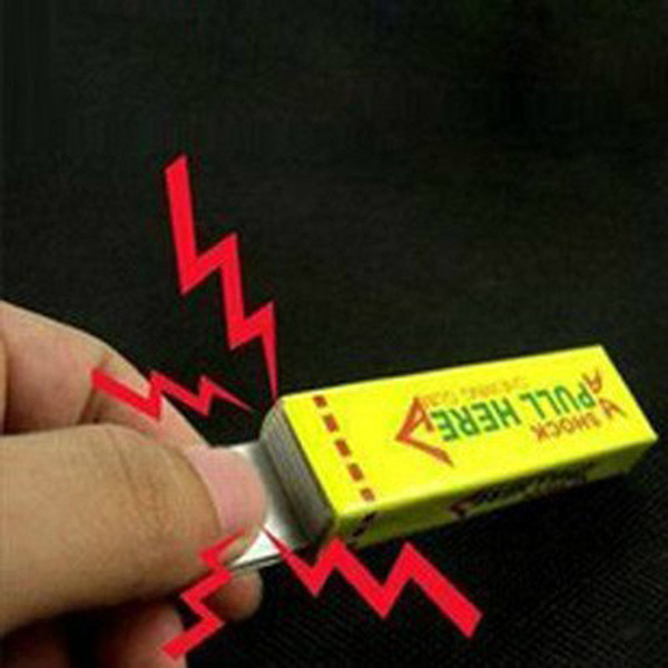 New Interesting Toys Electric Shock Shocking Funny Pull Head Chewing Gum Gags Safety Trick Joke Toy Novelty Items Lowest Price