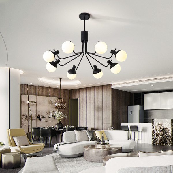 Black Vintage Industrial Pendant Lights Glass Lampshade Hanging Lights  Stair Dining Room Bedroom E14 Bulb Nordic Pendant Lamp Lights For Ceiling  ...