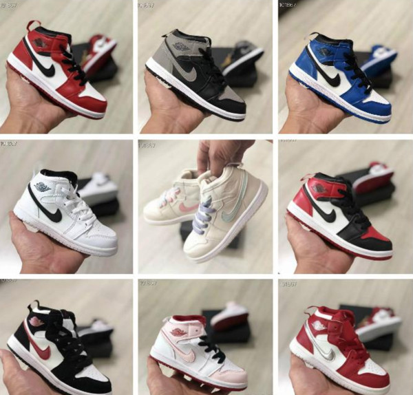 Jordans Christmas 2019.2019 Cair 1 Jordan 1 Kids 11 11s Space Jam Bred Concord Basketball Shoes Children Boy Girls 11s Midnight Navy Sneakers Toddlers Christmas Gift From