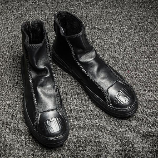 Automne et hiver nouvelles bottes de cuir chevelu occasionnels sauvages outillage Martin bottes bottes pour hommes un modèle de génération