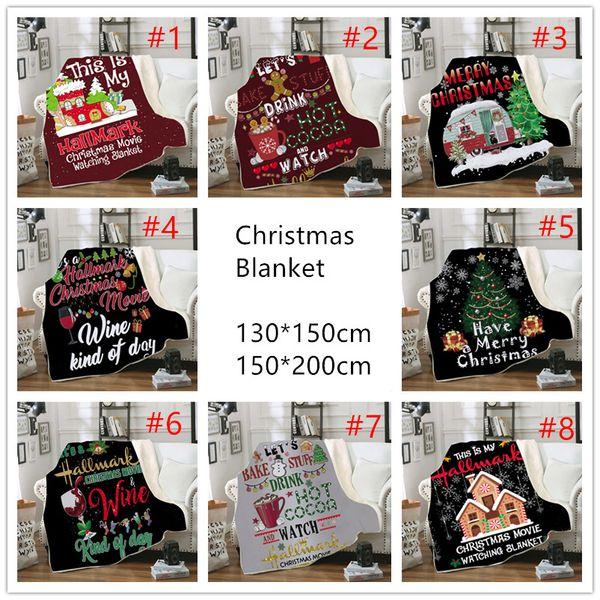 top popular Christmas Blanket Grinch Blankets 3D Digital Printing Rug Thick Sherpa Fleece Winter Warm Soft Blanket Chrismas Sofa Blankets A04 2019