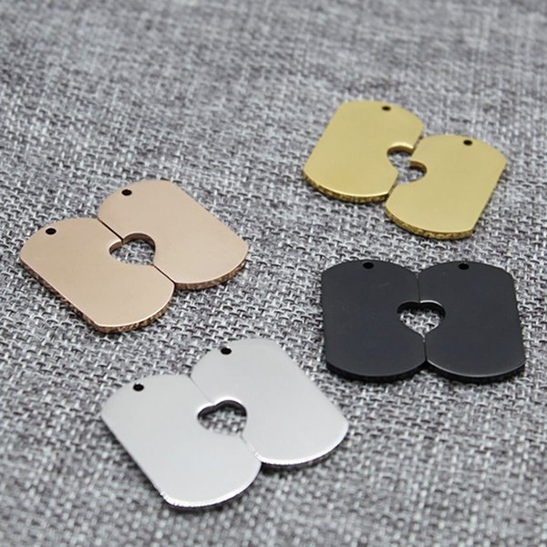 25 pairs assorted color stainless steel bottle opener dog tags DIY laser engravable metal blanks for logo or text engraving